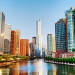 bigstock-Chicago-Downtown-With-Trump-In-47127700